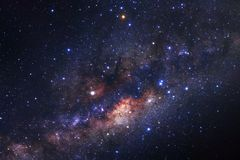 Milky way galaxy with stars and space dust in the universe. Long exposure photograph, with grain stock images