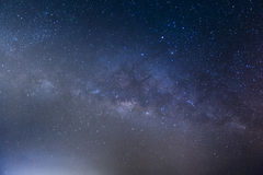 Milky way galaxy with stars and space dust in the universe, Long. Exposure photograph. with grain stock images