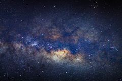 Milky way galaxy with stars and space dust in the universe.  stock images