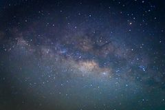 Milky way galaxy with stars and space dust in the universe Royalty Free Stock Photo