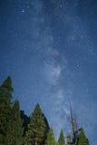 Milky Way Galaxy from the Yosemite Valley. California, Yosemite National Park royalty free stock photo
