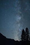 Milky Way Galaxy from the Yosemite Valley. California, Yosemite National Park, Taken 08.14, Copyright David Hoffmann royalty free stock photography