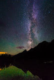 The Milky Way at the Grand Tetons royalty free stock photos