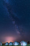 The milky way on grossland Stock Photography
