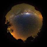Milky way inverted 360 planet Stock Photos