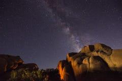 Milky Way. Joshua Tree National Park, California stock images