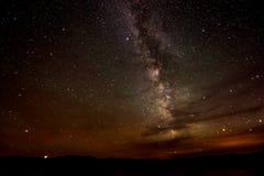 Milky Way  Lake Powell Utah Stock Image