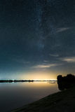 Milky Way at the lake side Stock Photos