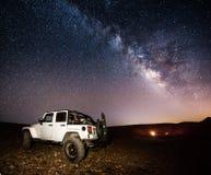 Milky way landscape Stock Image