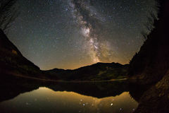 Milky Way landscape Royalty Free Stock Image
