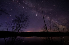 Milky Way with Large Twinkling stars Stock Photos