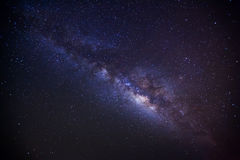 Milky Way. Long exposure photo Royalty Free Stock Image