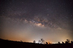 Milky Way. Long exposure photograph Royalty Free Stock Photography