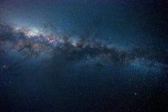 Milky way. Long exposure photography stock photos