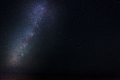 Milky Way at Majjistral Park. The beautiful night sky as seen from Majjistral Point in Malta royalty free stock photos