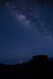 The Milky Way, Mauna Kea, Hawaii Stock Image