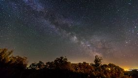 The Milky Way and meteorites. stock video