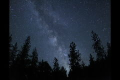 Milky Way with meteors time lapse stock footage