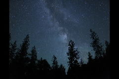 Milky Way with meteors time lapse stock video footage