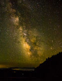 Milky Way with mountain in foreground Stock Photography