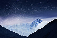 Milky way and mountains Stock Images