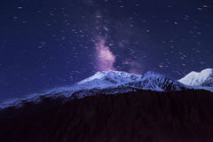 Milky way and mountains Stock Image