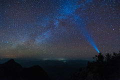 Milky Way in the mountains Stock Photography