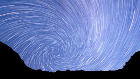 Milky Way in the mountains. Spiral. Time Lapse stock video footage