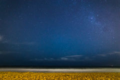 Milky Way at Narrabeen Beach. View of Milky Way from Narrabeen Beach, Australia Stock Photography