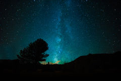 Milky Way in night skies Stock Photography