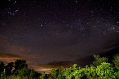 Milky Way Night Sky Royalty Free Stock Images