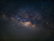 Milky way in night sky Stock Photos
