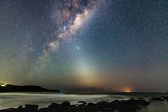 Free Milky Way Night Sky Filled With Stars Abd Beach Stock Image - 181482341