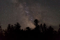 Milky Way in the Night Sky Stock Photography