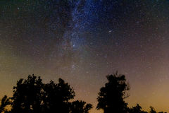 Milky way on a night sky Stock Image