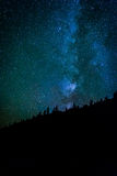 The Milky Way in the night sky at the Sand Beach at Acadia Natio Royalty Free Stock Photo