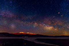 Milky Way night sky with stars Stock Photos