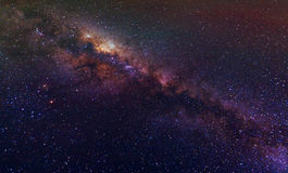 Milky Way night sky with stars Royalty Free Stock Image