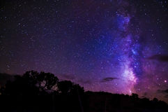 Milky Way Night Sky Stars stock photo