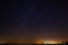 Milky Way in the night starry sky. Royalty Free Stock Photo