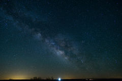 The Milky Way in Northern Texas. The Milky Way can be seen in the early morning hours in Texas in the middle of spring royalty free stock photo