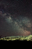 Milky Way stars. Our home galaxy over the canyon Royalty Free Stock Photo