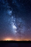 Milky way. Over Alqueva Lake, Caminho, Portugal royalty free stock images