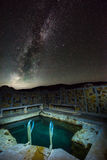 Milky Way over Antelope Hot Springs Oregon Stock Photography