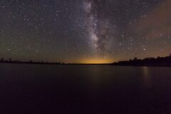 Milky Way over Ashurst Lake Stock Photography