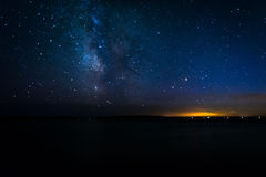 The Milky Way over the Atlantic Ocean, seen from Acadia National Royalty Free Stock Photo