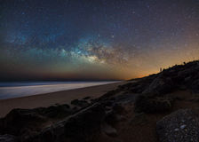 Milky Way Over the Atlantic Royalty Free Stock Images