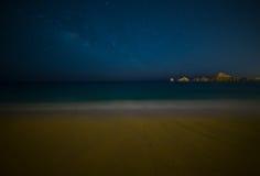 Milky Way Over Beach in Cabo San Lucas Mexico. Cabo San Lucas Mexico Beach at Night stock photography