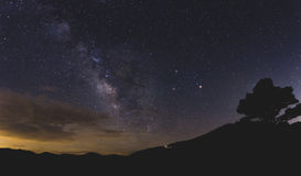 Milky Way Over the Blue Ridge Mountains Royalty Free Stock Image