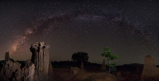 Milky way over the canyon. Clearly milky way over the canyon, Thailand stock photos